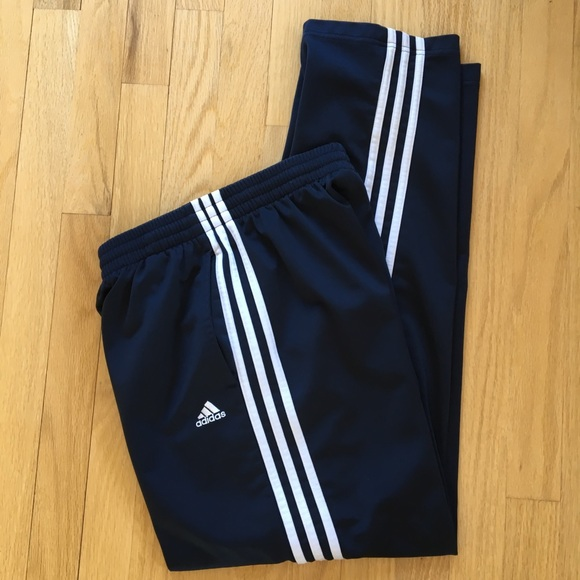 Activewear Bottoms Adidas Athletic Pants Navy Blue Large